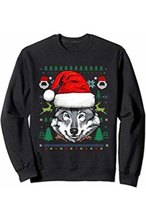 Wowsome! Wolf Ugly Christmas Santa Hat Xmas Gifts Kids Boys Girls Sweatshirt