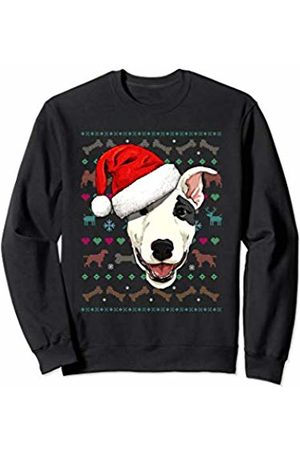Wowsome! Bull Terrier Ugly Christmas Dog Santa Hat Xmas Boys Kids Sweatshirt
