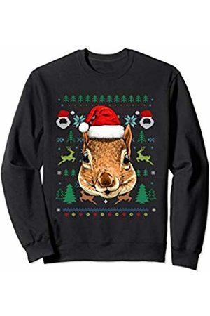 Wowsome! Squirrel Ugly Christmas Santa Hat Xmas Gifts Kids Boys Girls Sweatshirt