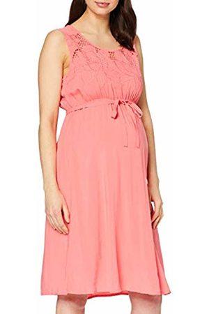 Mama Licious Women's MLSILLO S/L Woven Dress Sunkist Coral