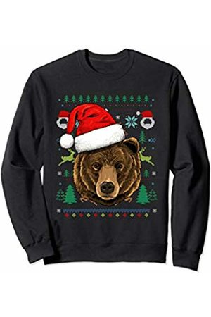Wowsome! Bear Ugly Christmas Santa Hat Xmas Gifts Kids Boys Girls Sweatshirt