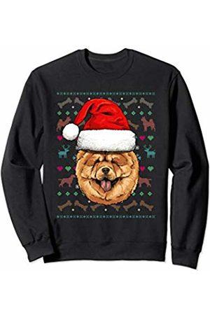 Wowsome! Chow Chow Ugly Christmas Dog Santa Hat Xmas Boys Kids Sweatshirt