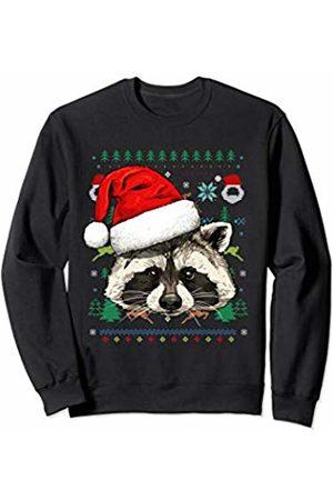 Wowsome! Raccoon Ugly Christmas Santa Hat Xmas Gifts Kids Boys Girls Sweatshirt
