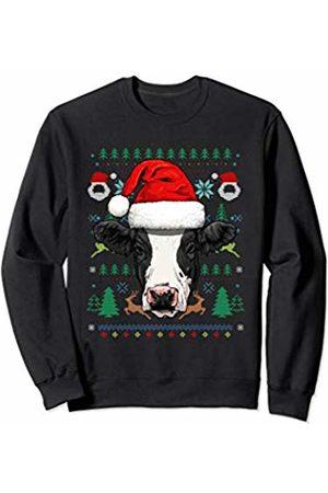 Wowsome! Cow Ugly Christmas Santa Hat Xmas Gifts Kids Boys Girls Sweatshirt