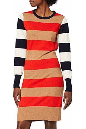 Scotch&Soda Maison Women's AMS Blauw Knitted Stripe Dress
