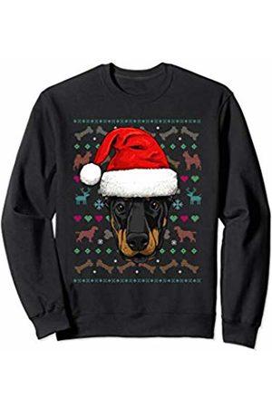 Wowsome! Dobermann Ugly Christmas Dog Santa Hat Xmas Boys Kids Sweatshirt