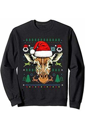 Wowsome! Giraffe Ugly Christmas Santa Hat Xmas Gifts Kids Boys Girls Sweatshirt