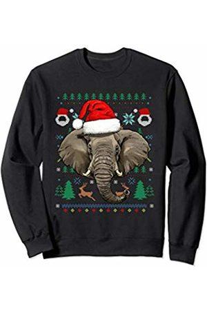Wowsome! Elephant Ugly Christmas Santa Hat Xmas Gifts Kids Boys Girls Sweatshirt