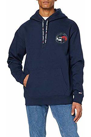 Tommy Hilfiger Men's TJM Chest Logo Hoodie Sports Jumper