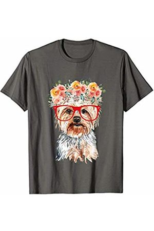 Yorkshire Terrier Lover Apparels Yorkshire Terrier With Red Glasses