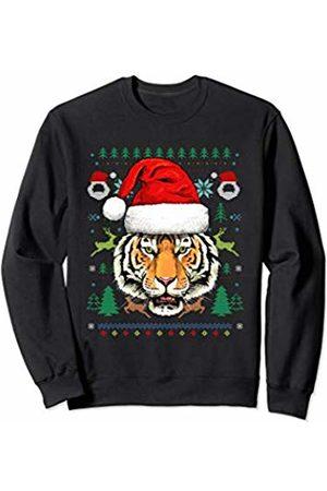 Wowsome! Tiger Ugly Christmas Santa Hat Xmas Gifts Kids Boys Girls Sweatshirt