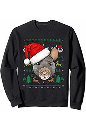 Wowsome! Rat Ugly Christmas Santa Hat Xmas Gifts Kids Boys Girls Sweatshirt