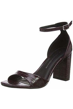Dorothy Perkins Women's Shilling Block Heel Platform Sandals, (Burgundy 716)