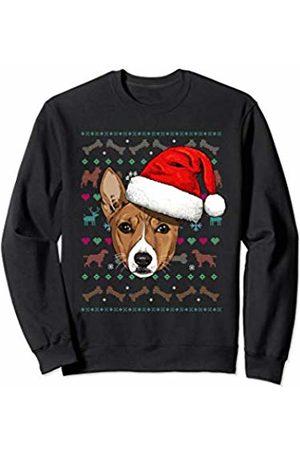 Wowsome! Basenji Ugly Christmas Dog Santa Hat Xmas Boys Kids Sweatshirt