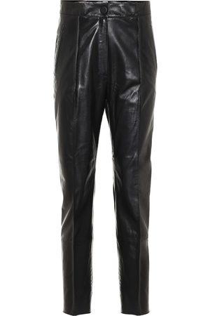 PETAR PETROV High-rise slim leather pants