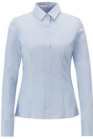HUGO BOSS Slim-fit blouse with darted seam detail