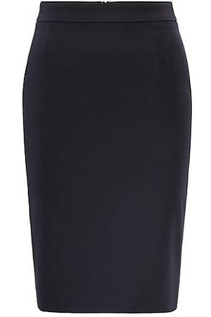 HUGO BOSS Stretch wool slim-fit pencil skirt