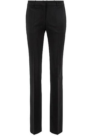 HUGO BOSS Straight-leg business trousers in stretch wool