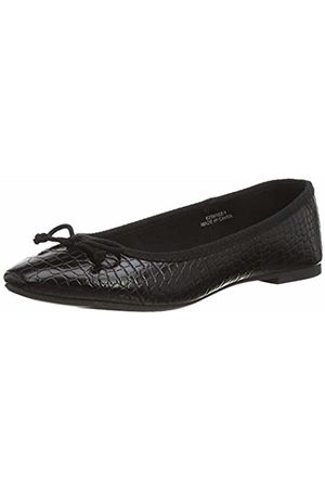 New Look Women's PRUDENCE-IC PU CROC BLRNA:1:S205 Closed Toe Ballet Flats, ( 1)