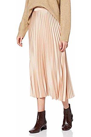 New Look Women's Satin Pleated MIDI Skirt