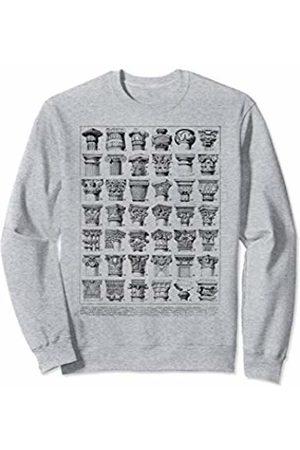 Ionic Greek Column Vintage Roman Column Chart Architecture Sweatshirt