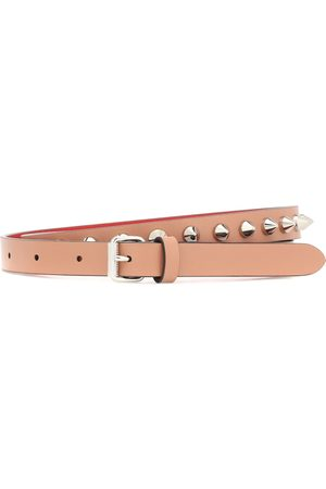 Christian Louboutin Loubispikes leather belt