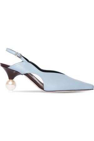 YUUL YIE 70mm Leather Sling Back Pumps