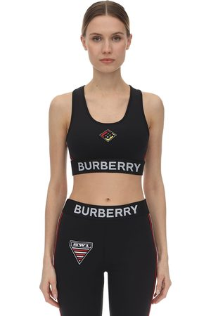 Burberry Jersey Sport Bra W/patches