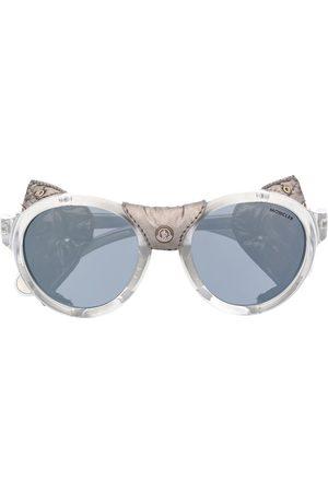 Moncler Sunglasses - Studded leather sunglasses