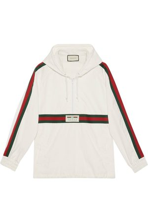 Gucci Logo label windbreaker - Neutrals