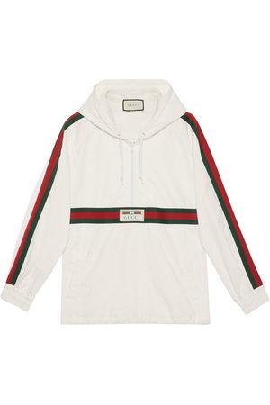 Gucci Logo label windbreaker - Neutrals