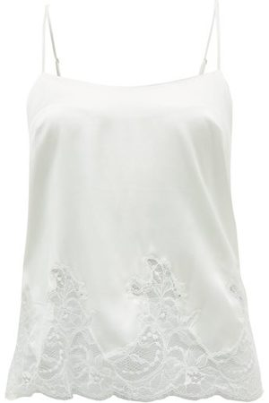 Fleur of England Signature Lace-trimmed Silk-blend Camisole - Womens