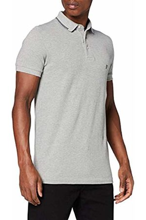 French Connection Men's Summer Black Tipping Polo Shirt, ( Mel/Marine 1)