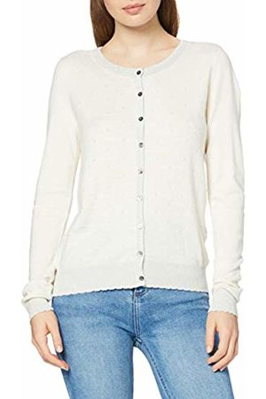 Vero Moda Women's Vmmontclair Ls O-Neck Cardigan Off- (Eggnog Pattern: Lurex)