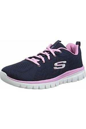 Skechers Women 12615 Low-Top Trainers, (Navy/ )