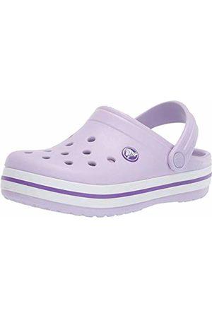 Crocs Unisex Kid's Crocband Clog K (Lavender-Neon 5P8)