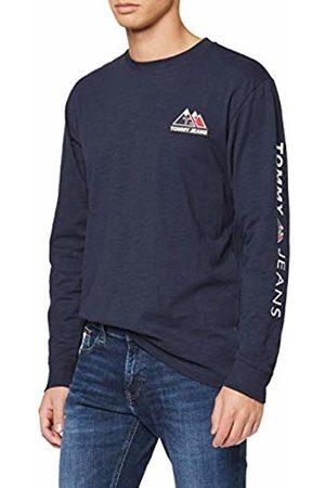 Tommy Hilfiger Men's TJM USA Mountain Logo TEE Sport Shirt