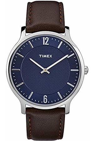 Timex Mens Analogue Classic Quartz Watch with Leather Strap TW2R49900