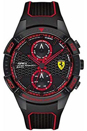 Ferrari Mens Multi dial Quartz Watch with Rubber Strap 830634