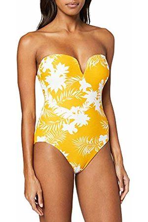 Seafolly Women's Wild Tropics Bandeau Maillot Swimsuit, Saffron