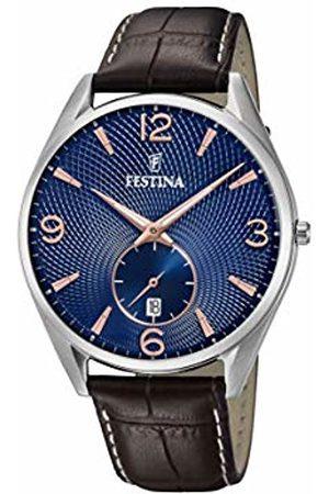 Festina Mens Analogue Quartz Watch with Leather Strap F6857/8