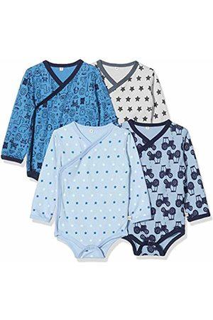 Pippi Baby 4er Pack Wickelbody Mit Aufdruck, Langarm Shaping Bodysuit