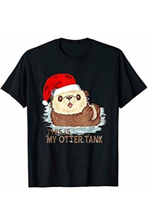 This Is My Otter Tank Santa Christmas Tees This Is My Otter Tank Santa Christmas Gift For Animal Lovers T-Shirt