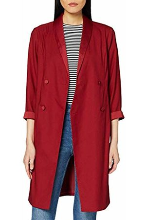 Dorothy Perkins Women's 3/4 Sleeve Tux Style Crimson Dress