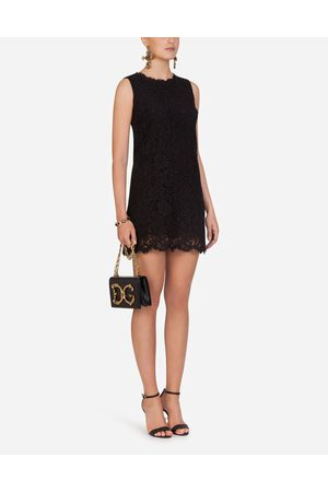 Dolce & Gabbana Women Sleeveless Dresses - Dresses - SHORT SLEEVELESS LACE DRESS