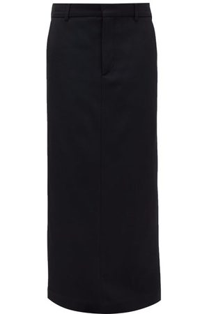 Raey Textured Twill Maxi Skirt - Womens - Navy