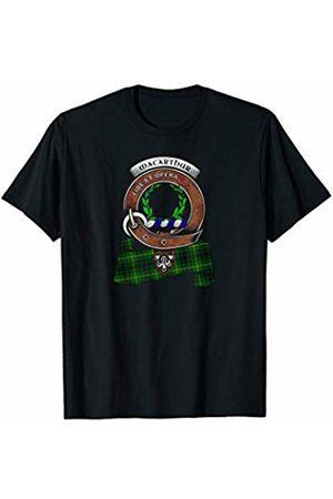 Our Family Name-MacArthur Clan Merchandise MacArthur Scottish Clan Badge & Tartan T-Shirt