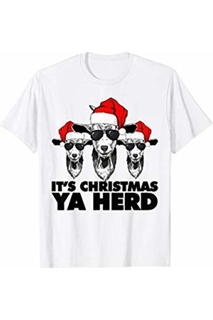 Miftees It's Christmas Ya Herd funny Goat pun T-Shirt