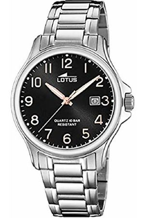 Lotus Mens Analogue Quartz Watch with Stainless Steel Strap 18645/3