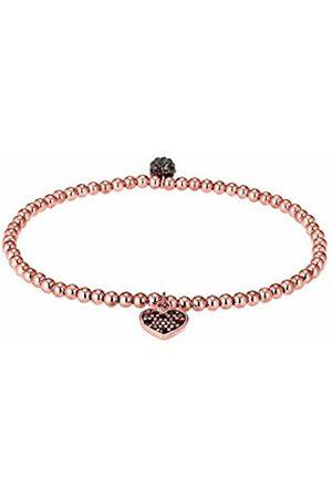 Elli Women's 925 Sterling Silver Gold Plated Xilion Cut Swarovski Crystals Bracelet of Length 18 cm